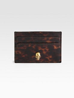 Alexander McQueen - Tortoise-Print Leather Card Case