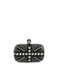 Alexander McQueen - Studded Skull Box Clutch