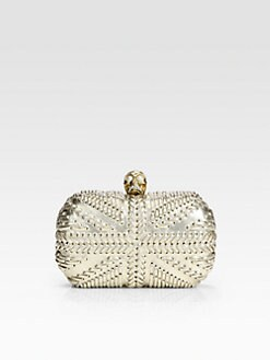 Alexander McQueen - Metallic Leather Skull Clutch