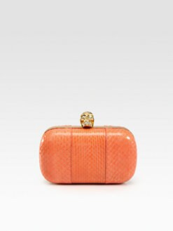 Alexander McQueen - Python Skull Box Clutch