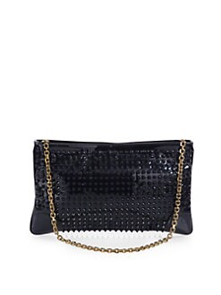 Christian Louboutin - Studded Patent Leather Convertible Bag