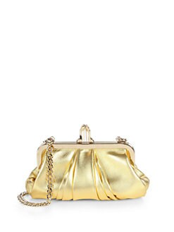 Christian Louboutin - Mini Loubi Lula Leather Laminata Clutch