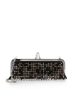 Christian Louboutin - Miss Loubi Studded Patent Leather Clutch