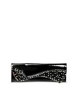 Christian Louboutin - Pigalle Studded Patent Leather Clutch
