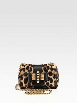 Christian Louboutin - Sweet Charity Leopard Calf Hair Mini Shoulder Bag