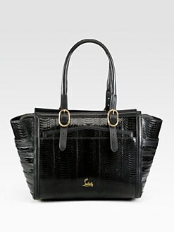 Christian Louboutin - Farida Snakeskin Top Handle Bag