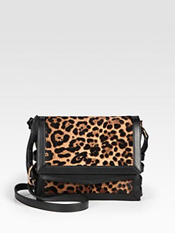 Christian Louboutin - Farida Leopard-Print Haircalf Messenger