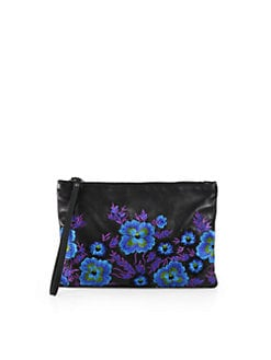 Christopher Kane - Embroidered Leather Clutch