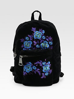 Christopher Kane - Embroidered Velvet Backpack