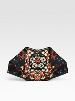 Alexander McQueen - Demanta Stained Glass Printed Satin Clutch