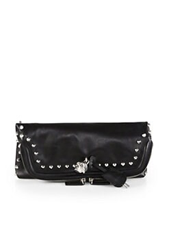 Alexander McQueen - Padlock Studded Fold-Over Clutch