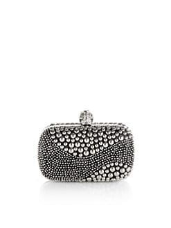 Alexander McQueen - Swish Studded Box Clutch