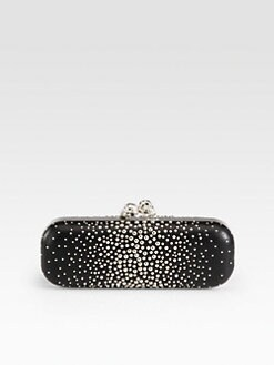 Alexander McQueen - Studded Twin Skull Box Clutch