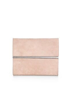 Maison Martin Margiela - Large Suede Fold-Over Mirror Clutch
