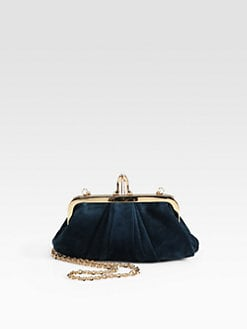 Christian Louboutin - Mini Loubi Lula Velour Clutch