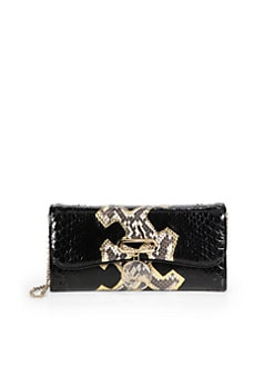 Christian Louboutin - Rivera Python Clutch