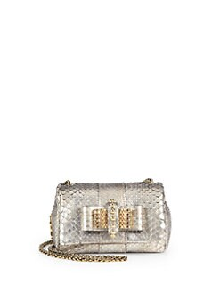 Christian Louboutin - Sweet Charity Python Cosmo Shoulder Bag