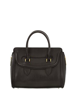 Alexander McQueen - Small Pebble-Grain Leather Top Handle Bag