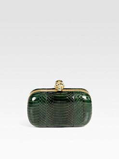 Alexander McQueen - Classic Devil Python Box Clutch