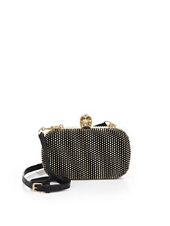 Alexander McQueen - Classic Studded Skull Box Clutch