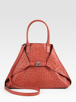 Akris - Ai Small Ostrich Top Handle Bag