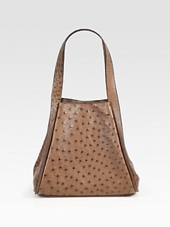 Akris - Alex Small Ostrich Tote Bag