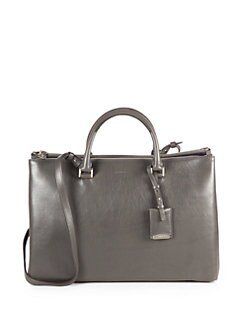 Jil Sander - Leather Zippered Tote Bag