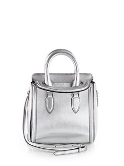 Alexander McQueen - Heroine Metallic Leather Top-Handle Bag