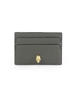 Alexander McQueen - Skull-Detailed Leather Card Case