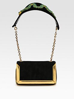 Christian Louboutin - Artemis Mixed-Media Shoulder Bag