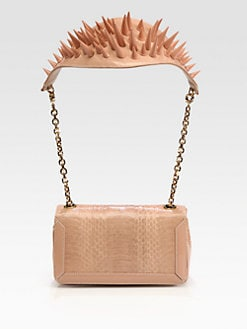 Christian Louboutin - Artemis Python Spike Shoulder Bag