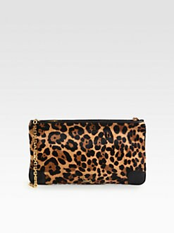Christian Louboutin - Loubiposh Leopard-Print Calf Hair & Leather Clutch