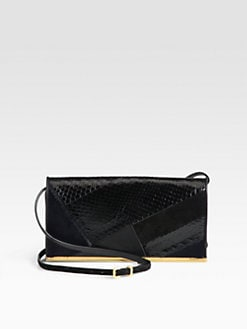 Nina Ricci - Calf Hair, Suede, Python & Leather Shoulder Bag