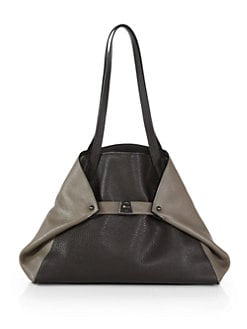 Akris - Ai Small Bicolor Leather Shoulder Bag