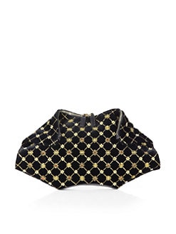Alexander McQueen - Demanta Embroidered Velvet Clutch