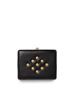 Alexander McQueen - Embellished Leather Clutch