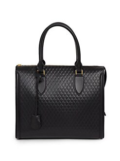 Alexander McQueen - Pyramid Quilted Leather Tote