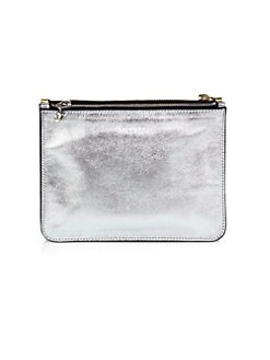 Alexander McQueen - Metallic Leather Double-Pouch Cosmetic Case