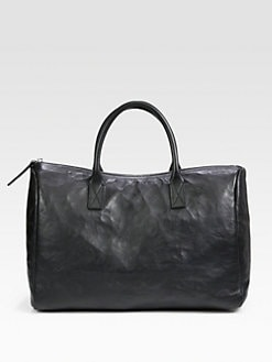 Jil Sander Navy - Wrinkled Bonded Leather Tote