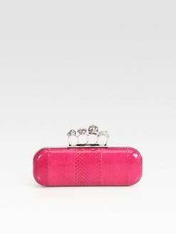 Alexander McQueen - Snakeskin Knuckle Box Clutch