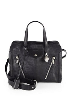 Alexander McQueen - Zip-Detail Leather Satchel