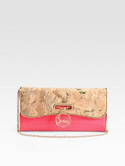 Christian Louboutin - Riviera Lame Cork Clutch