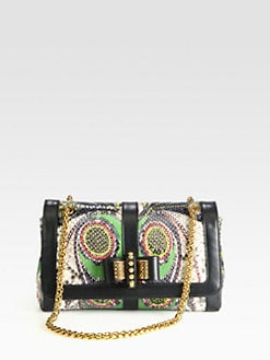 Christian Louboutin - Sweet Charity Printed Python Shoulder Bag