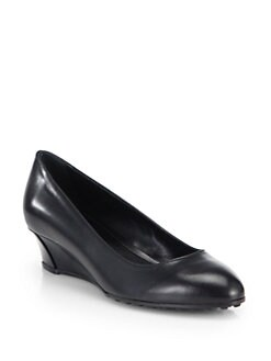 Tod's - Zeppa Leather Wedge Pumps