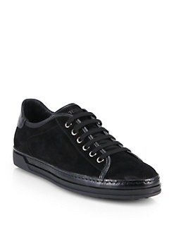 Tod's - Suede Lace-Up Sneakers
