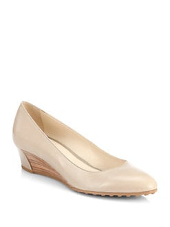 Tod's - Leather Wedge Pumps
