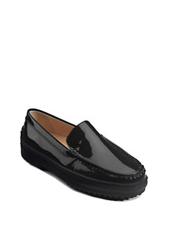 Tod's - Gommini Patent Leather Moccasins