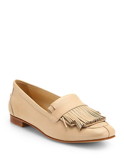 Leather Fringe Loafers