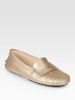 Tod's - Stamped Patent Leather Moccasin Drivers
