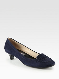 Tod's - Suede Moccasin Pumps
